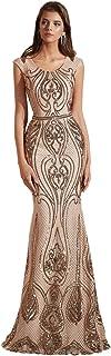 فستان حورية البحر للنساء من Leyidress فستان وصيفة العروس فستان سهرة للحفلات الراقصة