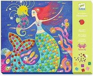 DJECO- Caja de mosaicos El Canto de Las sirenas Boîte de mosaïque Le Chant des sirènes (39423), Multicolore