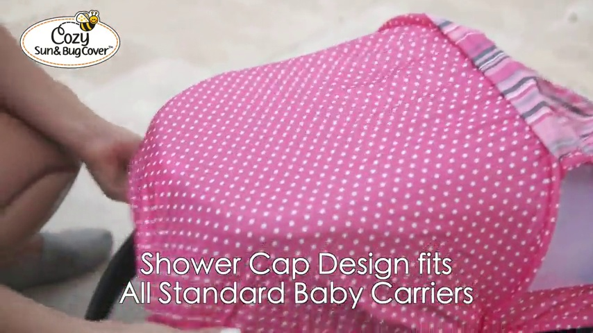 Pink Stripe Cozy Cover 40012 Sun /& Bug Cover