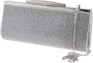 F Fityle Ladies Sparkling Evening Party Prom Clutch Bridal Bag Purse Diamante Rhinestone Handbag