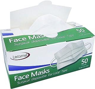 Disposable Face Mask 50 Pcs Box 3Ply Earloop Medical Dental Surgical Mask