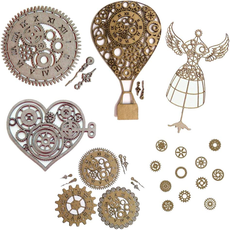 Excellent Steampunk Scrapbook Embellishments Special price for a limited time Collection Piece Laser #1-29