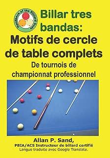 Billar tres bandas - Motifs de cercle de table complets: De tournois de championnat professionnel (French Edition)