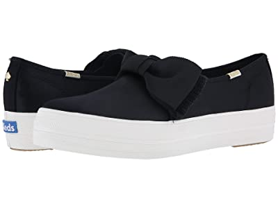 Keds x kate spade new york Bridal Triple Decker Bow (Black Satin) Women