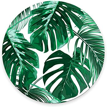 Amazon Com Tropical Leaf Mousepad Mat Beautiful Design Leaves Green With White Background Round Mouse Pad Electronics These tropical leaves have transparent backgrounds, thus you can easily drag and drop them in your layout. tropical leaf mousepad mat beautiful design leaves green with white background round mouse pad