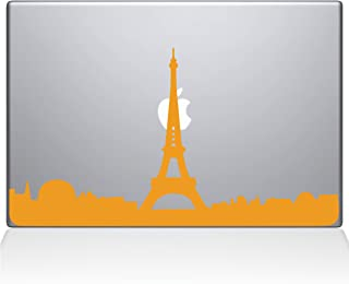 "The Decal Guru 2070-MAC-15X-SY Paris City Skyline Decal Vinyl Sticker, 15"" MacBook Pro (2016 & Newer), Yellow"
