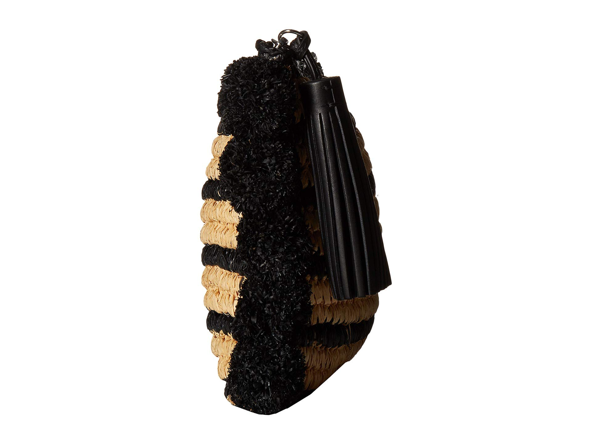 Tassel Raffia Loeffler Natural Pouch black Randall q6RRn74wxE