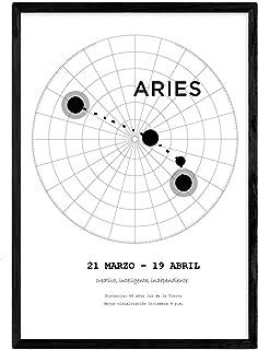 Lamina con la constelación Aries. Poster con símbolo del z