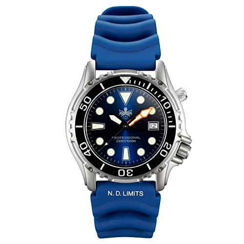 Phoibos Mens PX005B 1000M Dive Watch Swiss Quartz Blue Sport Watch