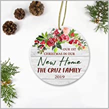 Newlywed Couple Christmas Ornament Our 1st Christmas In Our New Home The Cruz Family 2019 Wedding Gift Ideas X-mas Tree Decorations Add Names 3