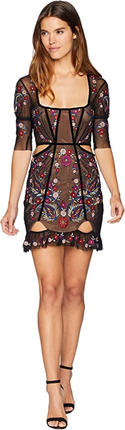 Ester Embroidery Mini Dress