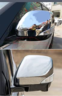 KPGDG Fit for Infiniti QX56 QX80 2011-2018 Chrome ABS Side Rear View Mirror Cover Bar Trim