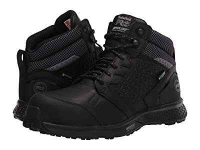 Timberland PRO Reaxion Mid Composite Safety Toe Waterproof (Black/Black) Women