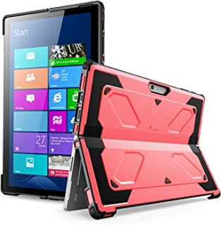 Surface Pro 6 Case, Surface Pro Case 2017, [Heavy Duty] i-Blason Armorbox Dual Layer Hybrid [Full-body Protection][Kickstand] Case for Microsoft Surface Pro 6 2018/Surface Pro 5 2017/Pro 4 2015 (Pink)