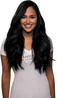 IRRESISTIBLE ME – Clip in Hair Extensions Jet Black (Color #1) - 100% Natural Remy (Remi) Human Real Hair – Straight Silky Touch – Clips Pieces Full Head Set - Different Weight (Grams) and Length (Inch) (#1-14