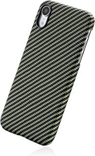 「PITAKA」Magcase iPhone XR 対応 ケース スマホケース 軍用防弾チョッキ素材 アラミド繊維 超薄(0.65mm) 超軽量(16g) 6.1インチ 超頑丈 耐衝撃 高耐久性 スリム 薄型 ミニマリスト シンプル 高級なカーボン風 ワイヤレス充電対応 (黒/黄 ツイル柄)