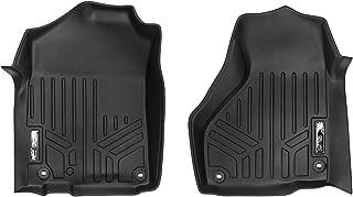 MAXLINER Floor Mats 1st Row Liner Set Black for 2012-2018 RAM Standard Cab or Quad Cab with 1st Row Dual Floor Hooks