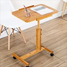 Yxsd Adjustable Height Computer Desk with Wheels, Portable Standing Table,Removable (Size : 70 * 50)