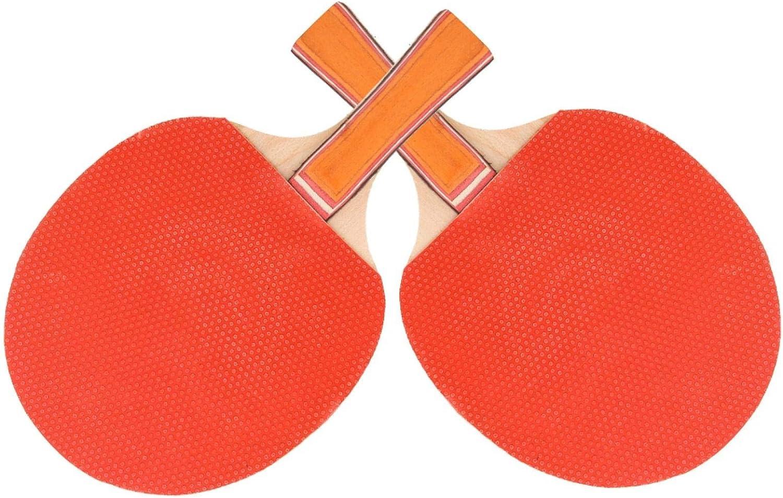 Robusto Paddle Bat Ping Pong Set Equipo Deportivo Placa Base de Madera Pura Ropa de Mano de Obra Exquisita para Entrenamiento Competición para Tenis de Mesa