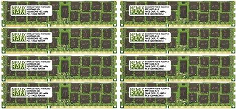 128GB (8x16GB) DDR3-1333MHz PC3-10600 ECC RDIMM 2Rx4 1.35V Registered Memory for Server/Workstation