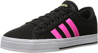 adidas NEO Women's Daily Bind Skate Shoes,Core Black/Shock Pink,9.5 M US