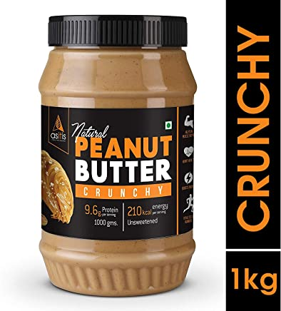 AS-IT-IS Peanut Butter Crunchy (Natural & Unsweetened) 1Kg