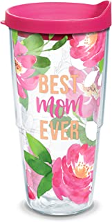 Tervis Best Mom Ever Floral Wrap With Travel Lid 24 oz 1352548