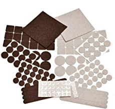 166 Piece Two Colors - Variety Size Furniture Felt Pads. Self Adhesive Pads with Transparent Noise Reduction Bumpers. Best Floor Protectors for Your Hardwood & Laminate Flooring-166 Piece