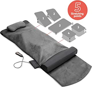 Back Stretching Electric Mat - 4 Stretching Programs for Physiotherapy at Home - Full Body & Back Relaxation - Release Lumbar Tension, Muscle Soreness & Back-Pain - Foldable Design with Handle