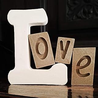 LOVE Lettere Decorative Fatte a Mano in Pietra Leccese con Frammenti Fossili. Inclusi Confezione Regalo e Bigliettino in B...