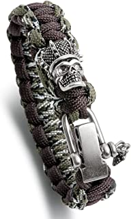 Skull Series Paracord Bracelet Set with Adjustable D Shackle, Personalized Fashion Jewelry Gift