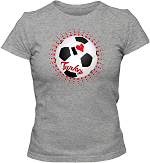 Turquía Campeonato de Europa 2016#6 Camiseta | Mujer | Fútbol | T-Shirt | Jersey | Ay-Yildizlilar | Equipo Nacional