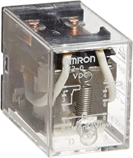 Omron LY4-0-AC200/220 General Purpose Relay, Standard Type, PCB Terminal, Standard Bracket Mounting, Single Contact, Quadruple Pole Double Throw Contacts, 11.5 to 13.1 mA at 50 Hz and 9.8 to 11.2 mA at 60 Hz Rated Load Current, 200 to 220 VAC Rated Load Voltage