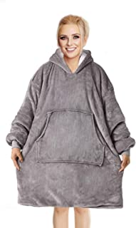 Sivio Oversized Hoodie Blanket Sweatshirt, Super Warm Snuggly Sherpa Flannel with Large Front Pocket, Ultra-Soft Texture W...
