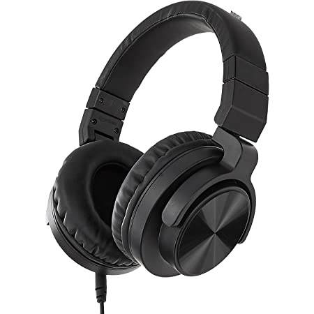 Amazon Basics Over-Ear Studio Monitor Headphones - Black