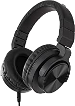 AmazonBasics – Auriculares circumaurales para monitor de estudio, Negro