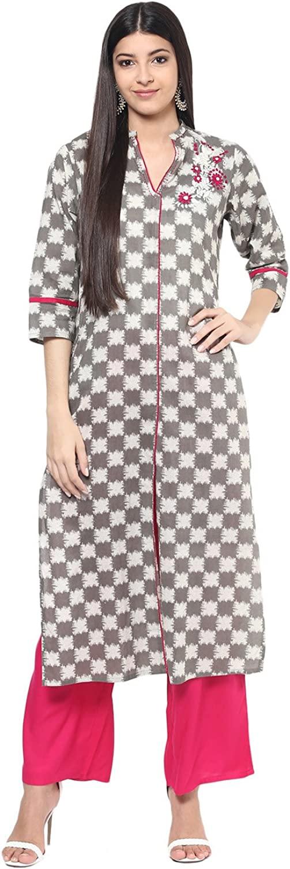 Jaipur Kurti Women's Cotton Kurta And Palazzo Set