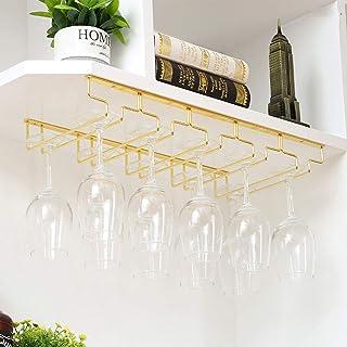 ZHAORU Porte-gobelet sous étagère, sous Armoire à Verres à Pied, thé Tasses à café Tasses à vin Stockage Support de séchag...