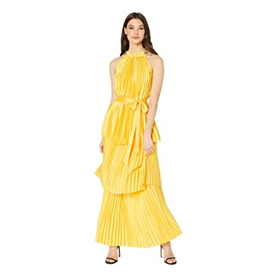 Juicy Couture Pleated Halter Maxi Dress (Sunlit) Women