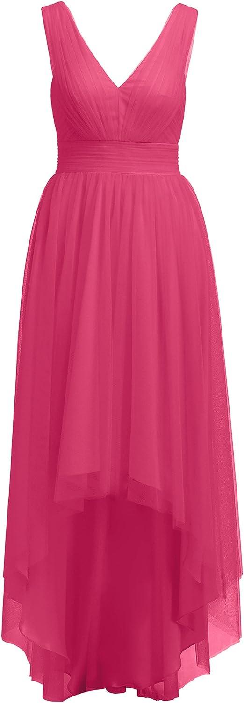 Alicepub 2017 HiLo Women's Formal Event Dresses VNeck Tulle Party Evening Dress