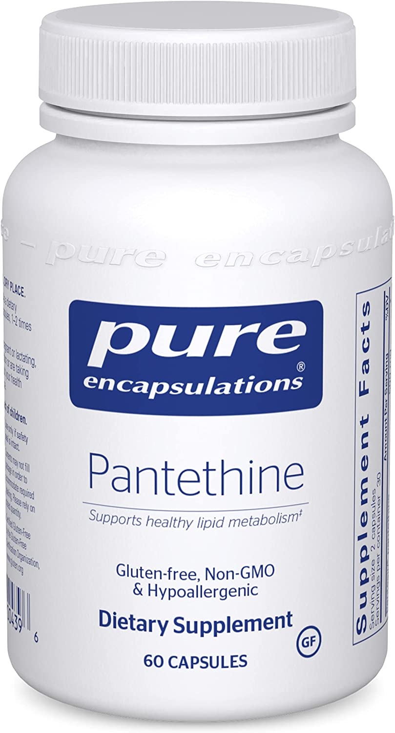 Pure Encapsulations - Pantethine Colorado Springs Mall Supplement Max 81% OFF Hypoallergenic Sup