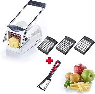 118022E6 Westmark Pommes-frites Schneider-Set mit Kartoffelsch/äler Fingerfood-Gem/üse-Obst-Stiftler mit 3 Schneideins/ätzen Easy Stix und Sparsch/äler Gallant