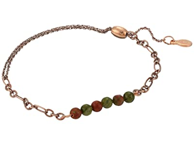 Alex and Ani Gemstone Pull Stretch Bracelet Unakite (Rafaelian Rose Gold) Bracelet