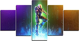 Halo Master Chief Art Canvas Posters Home Decor Wall Art Framework 5 Pieces Paintings for Living Room HD Prints Pictures B...