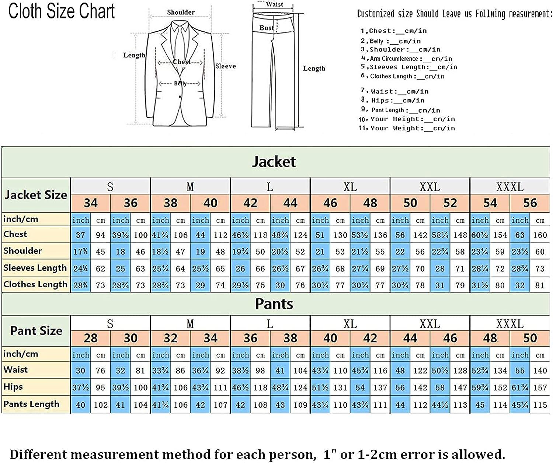 RONGKIM Men's New 2-Piece Groom Suit White One Button Tuxedo Wedding Party Jacket & Black Pants
