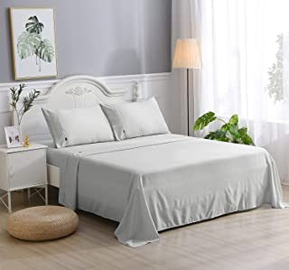Ramesses 4 Pieces Summer Cooling Sheet Set, 35% Viscose from Bamboo and 65% Microfiber, Wrinkle Free Fabric, Light Soft Si...