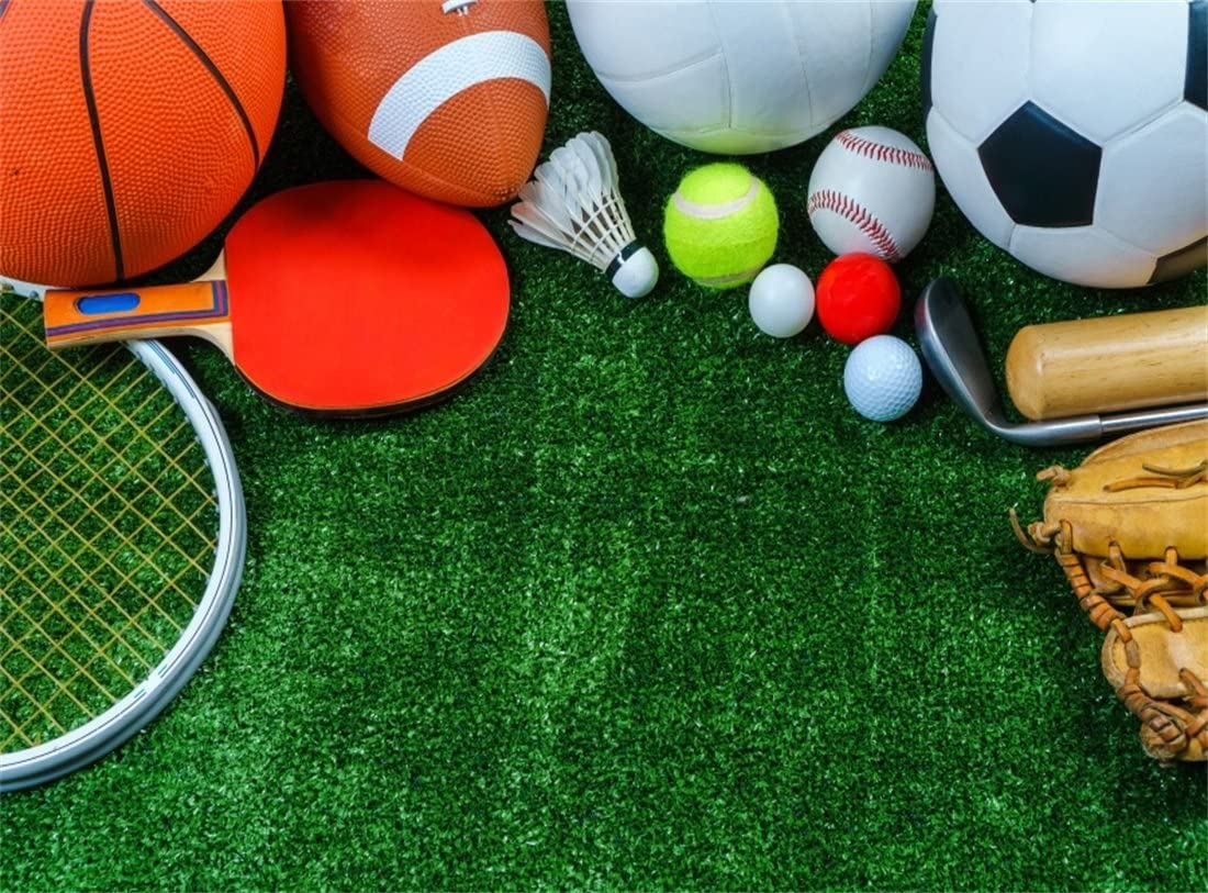 Soccer 10x6.5 FT Vinyl Backdrop PhotographersCartoon Funny Football Numbers Pattern of Smiling Digits Sports and Education Theme Background for Party Home Decor Outdoorsy Theme Shoot Props
