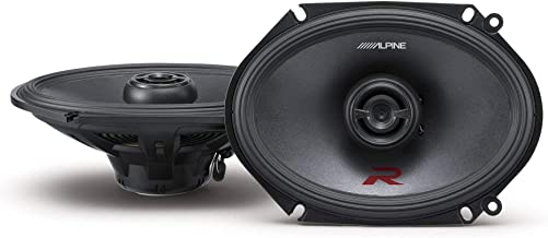 Alpine R-Series 6 x 8 Inch 300 Watt Component 2-Way Car Speakers, Pair R-S68
