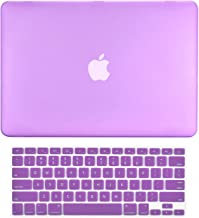 TOP CASE - 2 in 1 Signature Bundle Rubberized Hard Case + Keyboard Cover Compatible MacBook White Unibody 13
