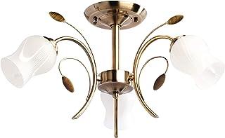 DeMarkt 256018103 Lámpara de Techo Metal Color Bronce 3 x 60W E14